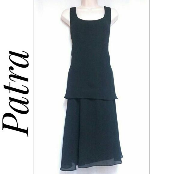 Vintage Patra Party Cocktail Dress Black Size 12